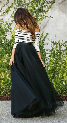We always love a full tulle skirt. Find your very own maxi masterpiece on shopstyle.com.