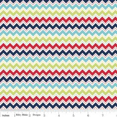 Riley Blake Fabric, Dress Up Days Blue Chevron, 1 yard. $8.25, via Etsy.