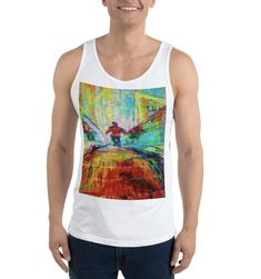 Purchase this tank top and support entrepreneurial refugees in Uganda. A portion of all sales benefits refugees. Uganda, Online Printing, Tank Man, Tank Tops, Unique, Stuff To Buy, Design, Fashion, Moda