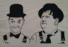 Laurel & Hardy Fret Saw, Laurel And Hardy, Scroll Saw, Kirigami, Stencils, Diy And Crafts, Mickey Mouse, Disney Characters, Fictional Characters