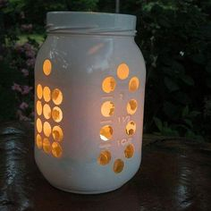 Cute candle holder! So many possibilities.