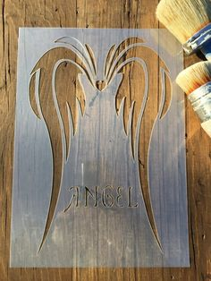 This Angel Wings Stencil 125 or 190 thickness film is just one of the custom, handmade pieces you'll find in our stencils shops. Custom Stencils, Stencil Templates, Diy Angel Wings, Different Types Of Painting, Diy Angels, Angel Art, Paint Cans, Chalk Art, Diy Art