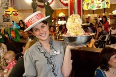 This sundae from Farrell's Ice Cream Parlour is meant to serve anywhere from one to 10 people, according to the menu. Farrell's Ice Cream, Ice Cream Parlor, Best Ice Cream, Whipped Cream, Mango Sorbet, Rainbow Sherbet, Chocolate Malt, Daily Specials, Butter Pecan
