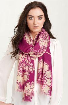 Eastern-inspired print. kate spade new york 'japanese floral' wool scarf $148.00