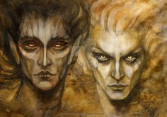 Melkor (or Morgoth as he was then) and his most powerful servant: Sauron. Prints and goodies available here: www.redbubble.com/people/bohem… Another preparatory sketch for a series on Sauron...