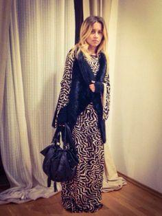 Love<3story Dress Dark-Side-Of-Paris Vest Eco Fur Katttja www.sistores.com