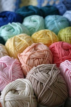 YARN: A continuous strand of twisted threads of natural or synthetic material, such as wool or nylon, used in weaving or knitting. I love yarn! Love Crochet, Crochet Yarn, Knitting Yarn, Knitting Patterns, Crochet Patterns, Yarn Thread, Yarn Stash, Knitting Projects, Crochet Projects