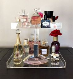 Perfume Storage Holder 2 Tiers Clear Acrylic by AcrylicOrganizers