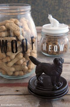 Treat jars for pets | Must do some for my 'Grandkitties' :)