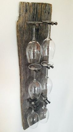 Reclaimed Wood Industrial Wine Rack. Click on image to see more ideas and DIYs for your home.