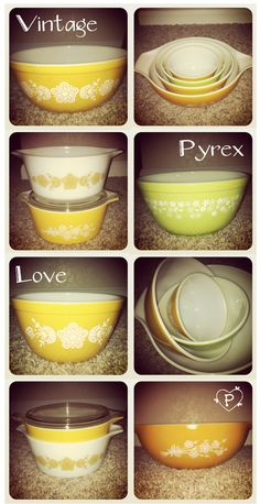 I love seeing these dishes...I grew up watching my mom, aunt, and grandma use these dishes for almost every meal! My grandma still does :o)  #vintage