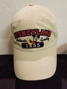 DISNEYLAND RESORTS MICKEY MOUSE HAT TAN EMBROIDERED ADJUSTABLE HAT  fashion   clothing  shoes  accessories  mensaccessories  hats (ebay link) b6754bb04efb