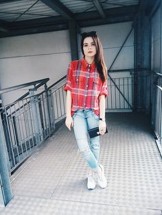Get this look: http://lb.nu/look/7585682  More looks by Edyta Kabata: http://lb.nu/edytakabata  Items in this look:  Cropp   Wallet, Reebok Shoes, Stradivarius Jeans, Secondhand Shop   #checkered #shirt #stradivarius #jeans #reebok #shoes #girls #polishgirl #fashion