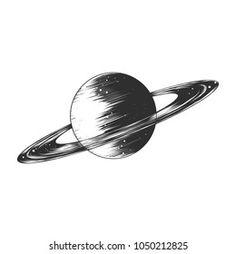 Saturn Sketch Images, Stock Photos & Vectors | Shutterstock Tattoo Sketches, Tattoo Drawings, Mundo Tattoo, Planet Sketch, Saturn Planet, Poster Decorations, Art Studios, Tattoo Inspiration, Illustrations Posters