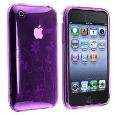 [Purple] Flower Soft Gel Case for / Best Cell Phone, Cell Phone Cases, Apple Iphone, Iphone 4s, Skin Case, Purple Flowers, Cell Phone Accessories, Products, Phone Case
