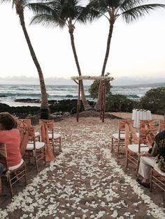 Need to see if this location on Coconut Grove would work for my ceremony? Love the three palm trees and black rocks in the background Fairmont Orchid, Kohala Coast, Hawaii Hotels, Fairmont Hotel, Coconut Grove, Hawaii Wedding, Big Island, Palm Trees, Orchids