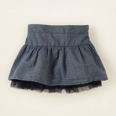 baby girl - chambray skort | Children's Clothing | Kids Clothes | The Children's Place