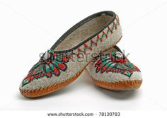traditional polish embroidery - traditional slippers