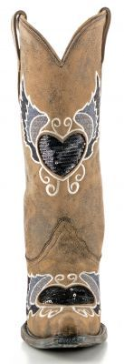 Corral Heart Boots Black and Gray