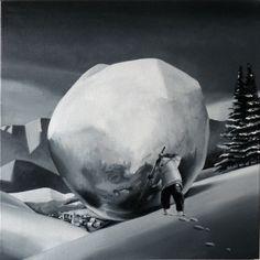 Seria zimowa I, 2010, olej, 40x40 cm, autor Bartek Buczek