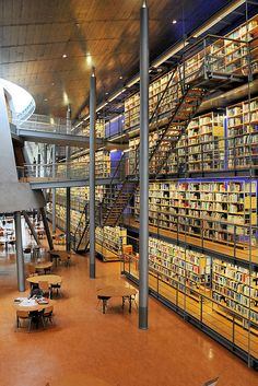 TU's Delft Library, Netherlands  This is crazy!!! O.O