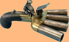 Duckfoot Pistol. Yes, this was actually a thing. For when you're outnumbered, or can't be bothered to aim.