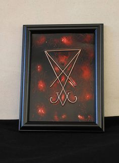 Seal of Lucifer  Lucifers Sigil Satans seal  Copper etching