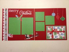 Simple layout using the Cheerful Christmas additions paperpack from Creative Memories!