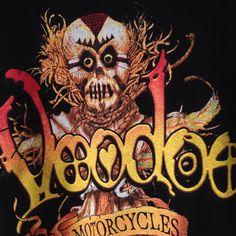 Voodoo Motorcycle Biketoberfest Tshirt XL Headhunter Witchdoctor 2003 Black Cat…