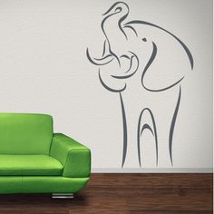 Add excitement to your living space with this Abstract Elephant Wall Decal Sticker Mural Vinyl Decor Wall Art. Available in a variety of colors and two different sizes, this eye-catching Vinyl Decal w Name Wall Decals, Wall Decal Sticker, Vinyl Wall Decals, Wall Stickers, Vinyl Decor, Wall Art Decor, Dream Wall, Hand Painting Art, Textured Walls