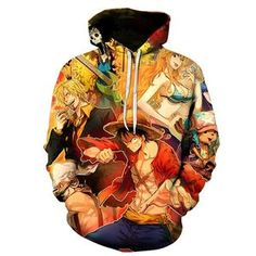 Hoodies & Sweatshirts Devoted Anime One Piece Hoodies 3d Print Pullover Sweatshirt Monkey D Luffy Ace Sabo Shanks Law Battle Tracksuit Outfit Casual Outerwear 50% OFF