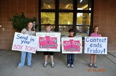 Box Tops for Education  Love this idea for PTA membership too.