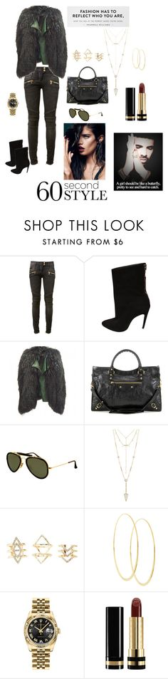 """""""D R A K E"""" by acurry1121 on Polyvore featuring Balmain, Balenciaga, Ray-Ban, House of Harlow 1960, Charlotte Russe, Lana, Rolex, Gucci, DRAKE and views"""
