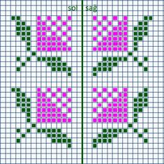 Cross Stitch Bookmarks, Mini Cross Stitch, Cross Stitch Borders, Cross Stitch Flowers, Cross Stitch Charts, Cross Stitch Designs, Cross Stitch Patterns, Tapestry Crochet Patterns, Weaving Patterns