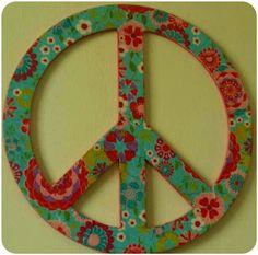 Símbolo de la paz para colgar