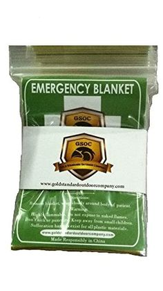 Emergency Blanket Pack of 4 - Highest Quality - Light and Convenient - Gold / Silver for Best Safety -- Be sure to check out this awesome product.