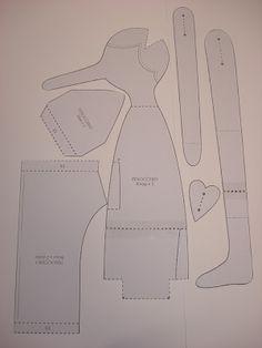 Miquinhas & Cia.: Tutorial Pinóquio Tilda - Interpretação dos moldes