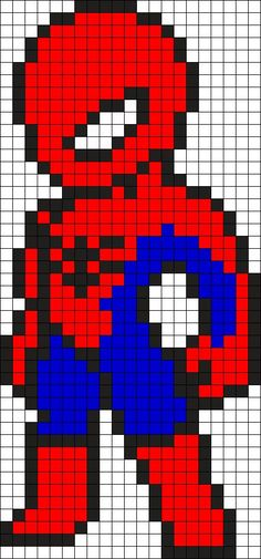 Spiderman Perler Bead Pattern / Bead Sprite - visit to grab an unforgettable cool 3D Super Hero T-Shirt!