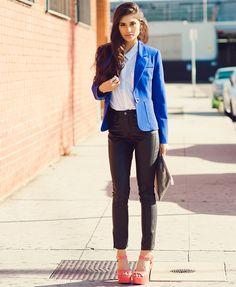 Blue Blazer Outfit Photo Album - Reikian