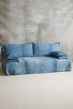 Reverse-Dyed Batik Sofa - anthropologie.com