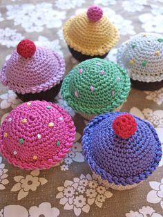 hæklede muffins