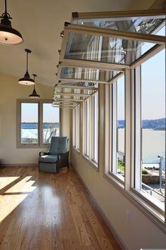 Porch Windows, House, Sunroom Windows, Back Porch Designs, Patio Windows, Window Design, Porch Remodel, Craftsman Style House Plans, Sliding Window Design