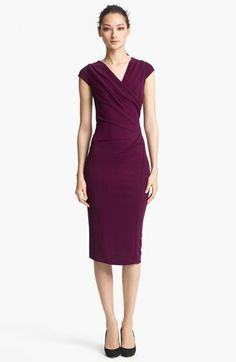 Lovely.  Now, for an under-$2000 option.   O.o  //  Donna Karan Cap Sleeve Jersey Dress in Amethyst.