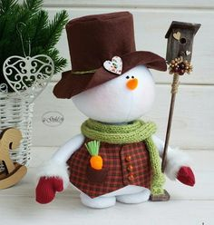 Фотография Christmas Clay, Christmas And New Year, Christmas Time, Christmas Ornaments, Handmade Christmas Decorations, Holiday Crafts, Holiday Decor, Snowman Crafts, Felt Crafts