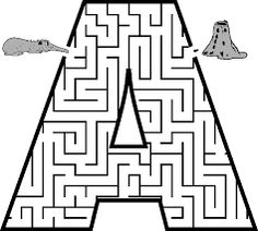 Printable Maze in the shape of letter A. Kids love mazes, and letter shaped mazes also help with learning the alphabet Letter A Coloring Pages, Coloring Pages For Kids, Writing Worksheets, Preschool Worksheets, Mazes For Kids Printable, Kids Mazes, Free Printable, Letter Maze, Maze Puzzles