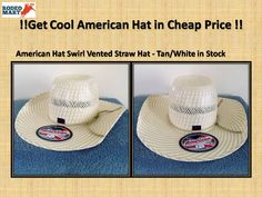 Beautiful American hat with attractive Cool Hand Luke crown. get it in very less price. click here for buy it ----> https://www.rodeomart.com/American-Hat-Co-Swirl-Vented-Straw-Hat-Tan-White-p/stock-straw-6100.htm  #rodeospecials #westernspecials #western clothingmarkeddown #cheapcowboyhats #Americanhat