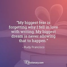 Don't forget why you love writing. #quoteoftheday #quotesdaily #quote