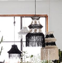Eclectic Crochet Lampshades - sale by category
