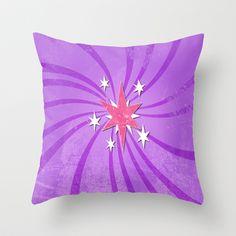 my grunge little pony.. twilight sparkle Throw Pillow by studiomarshallarts - $20.00