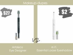 Makeup dupes: Artdeco Eye Designer dupe